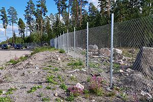 Industristängsel med staketlarm i Tierp