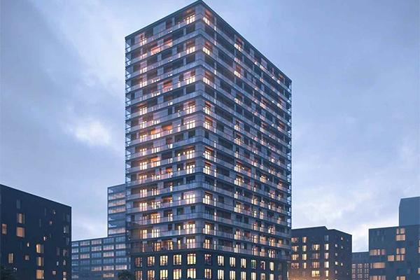 Inglasningar för hållbart byggande i Hamburg, Tyskland