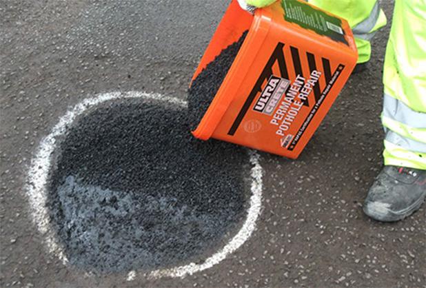 laga asfalt sprickor