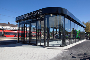 Cykelgarage i modern design